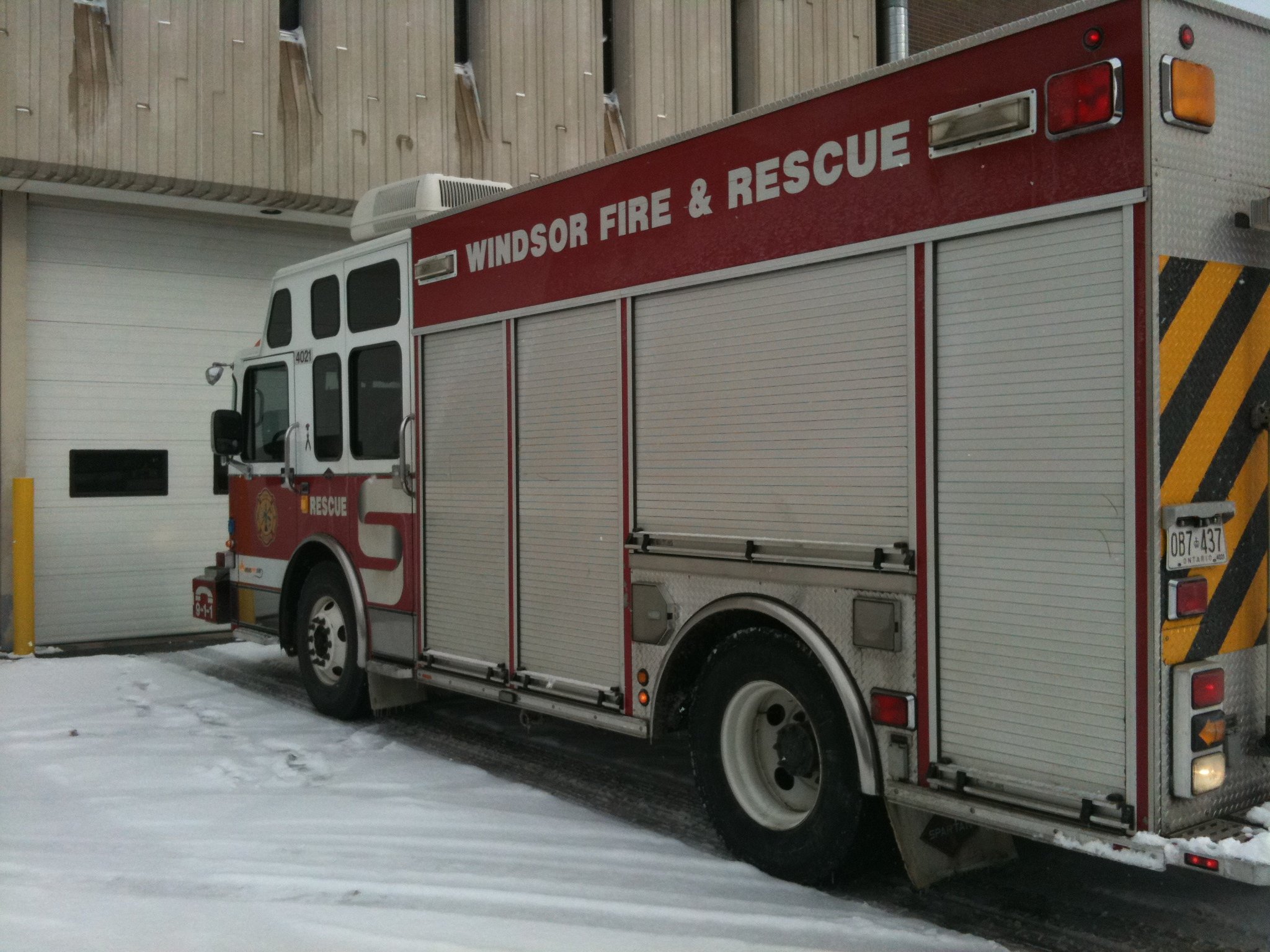 Windsor Fire and Rescue Services truck. (BlackburnNews.com file photo.)