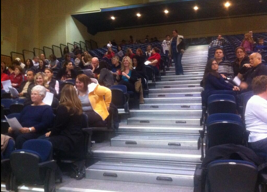 Parents gather at St. Anne's High School for the WECDSB ARC meeting. May 7 2014. (Photo by Trevor Thompson)