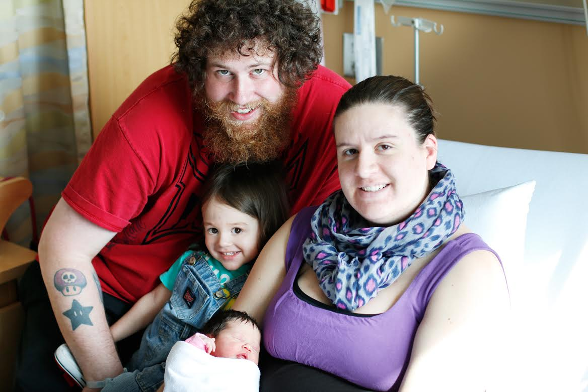 Liliana Parker was born on Sarnia's 100th birthday to parents Brian and Jessie-Lee.