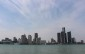 Detroit's skyline as seen from the shores of Windsor.