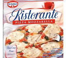 Dr. Oetker pizza box