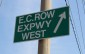 EC Row Exwy. W. sign on Huron Church Rd. in Windsor.