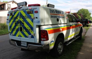 Essex-Windsor EMS vehicle. (photo by Mike Vlasveld)
