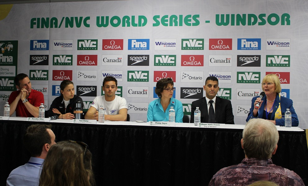 News conference to kick off the WIndsor leg of the FINA Diving World Series at the Windsor International Aquatic and Training Centre.
