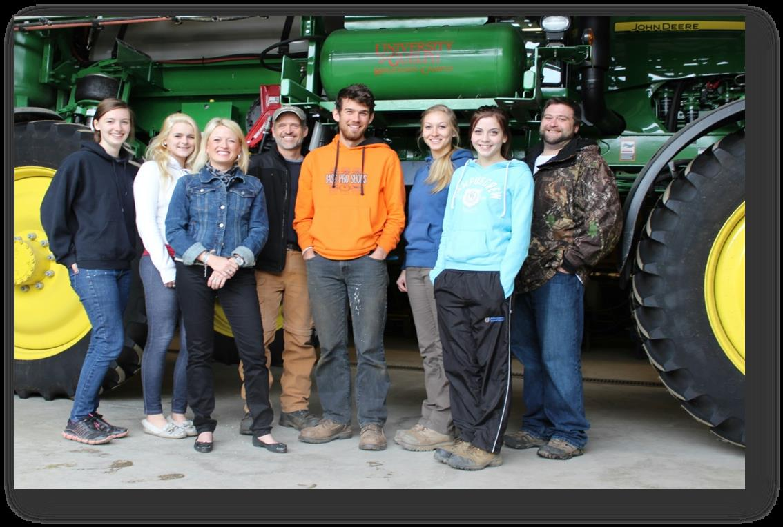 Summer students hired for University of Guelph's Ridgetown Campus pest management program. (Photo courtesy University of Guelph)