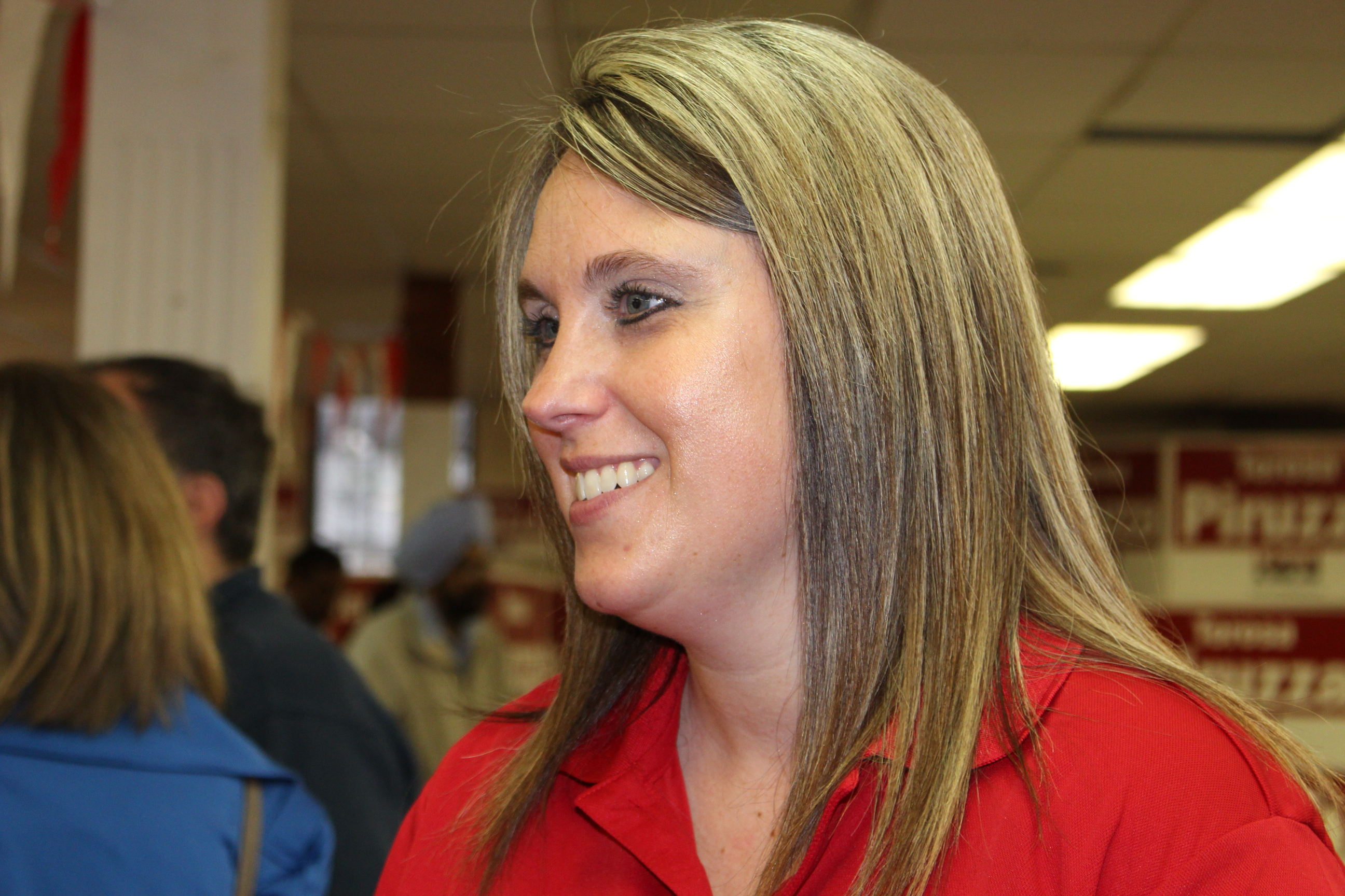 The most recent Liberal candidate for the Essex riding, Crystal Meloche attends Ontario Liberal campaign launch event on May 7, 2014. (Photo by Ricardo Veneza)
