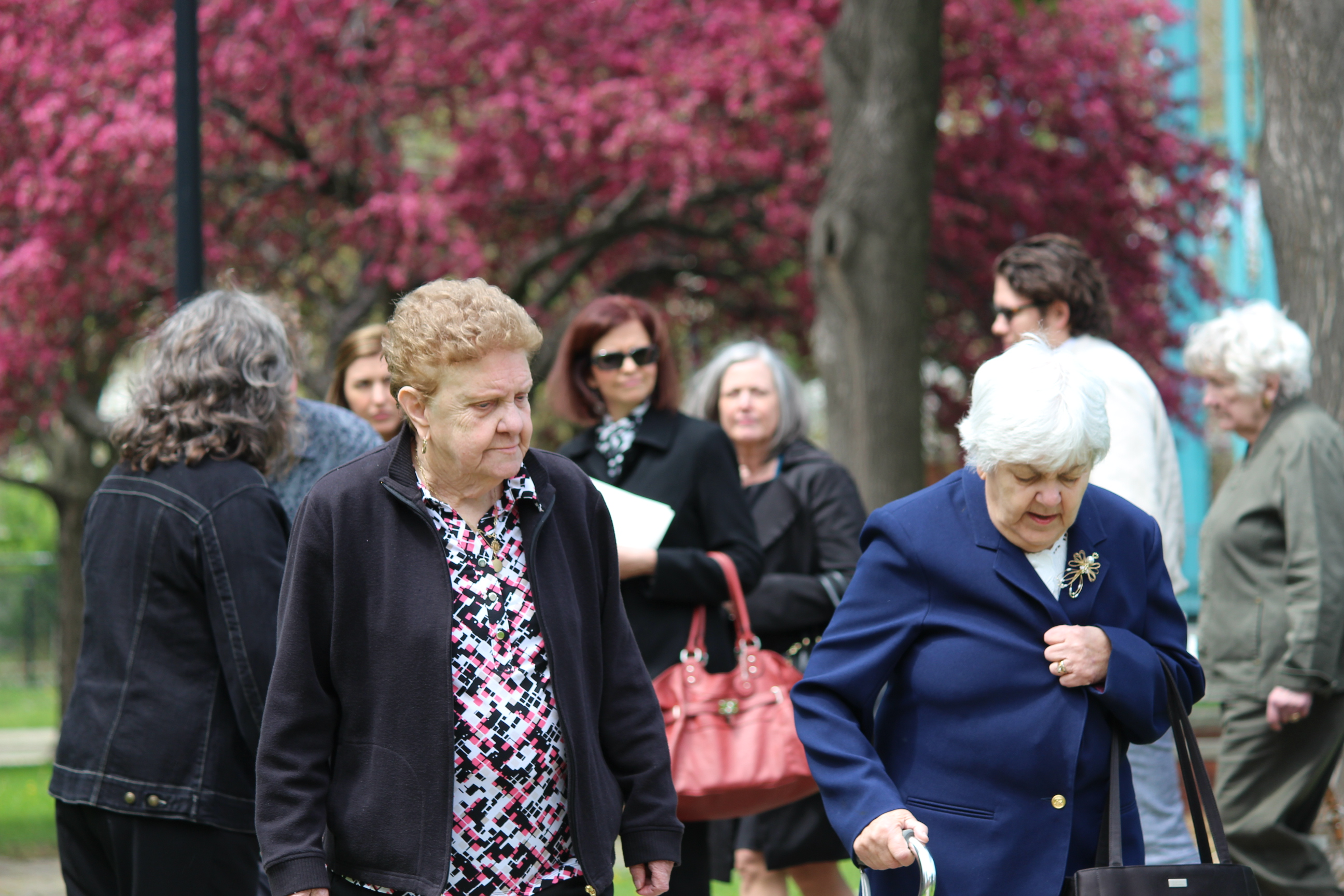Hundreds of people attend a memorial service in Windsor for legendary Canadian writer Alistair MacLeod on May 17, 2014. (Photo by Ricardo Veneza)