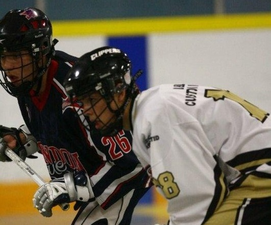 The Windsor Clippers play the London Blue Devils in Jr.B Lacrosse. (Photo courtesy of windsorclippers.com.)
