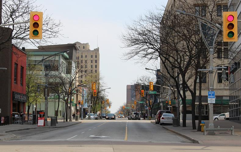 Ouellette Ave. downtown Windsor.
