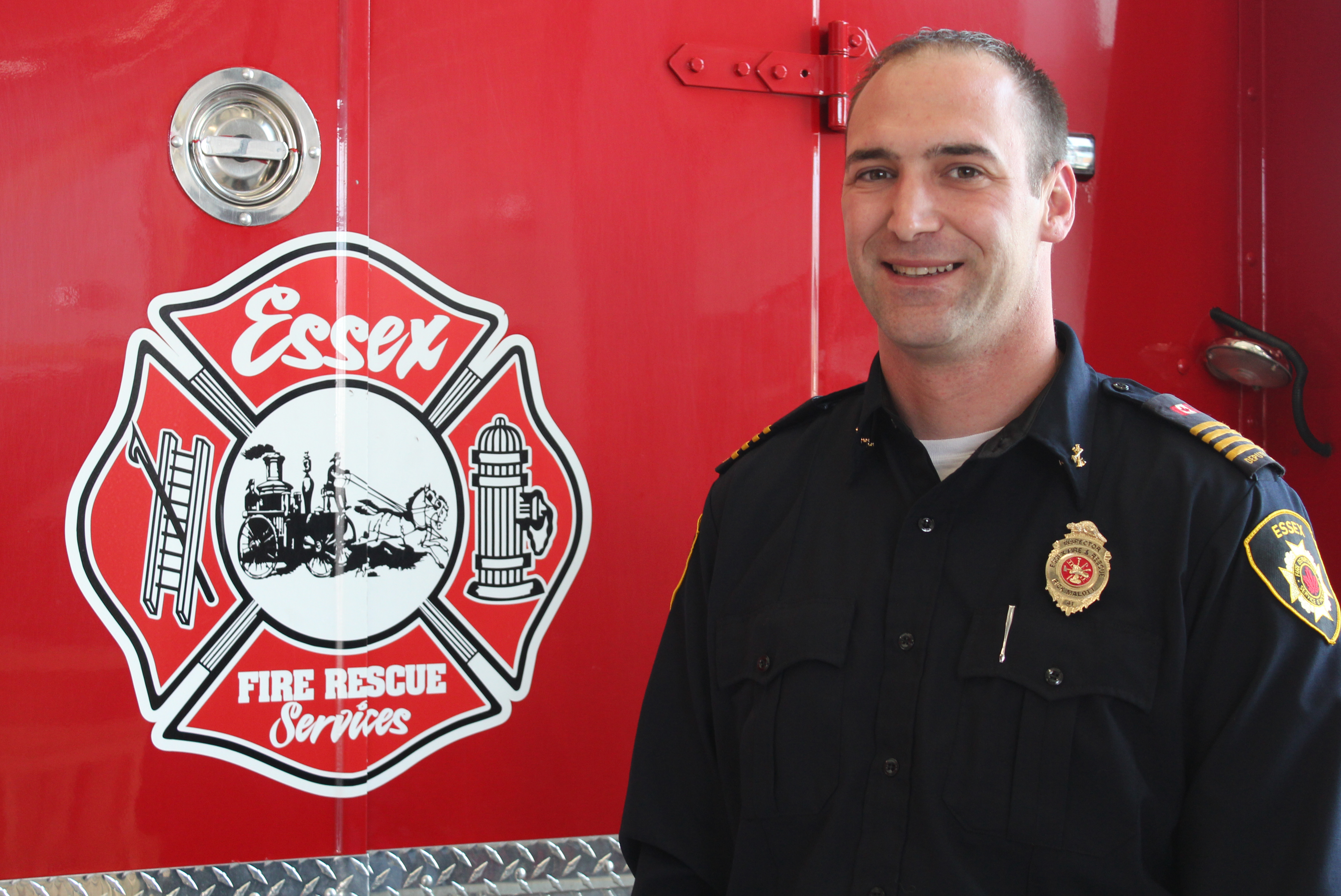 Photo of Essex Fire and Rescue Services deputy fire chief Rick Malott courtesy of the Town of Essex.
