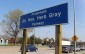 Rt. Hon. Herb Gray Pkwy. sign on Huron Church Rd. in Windsor.