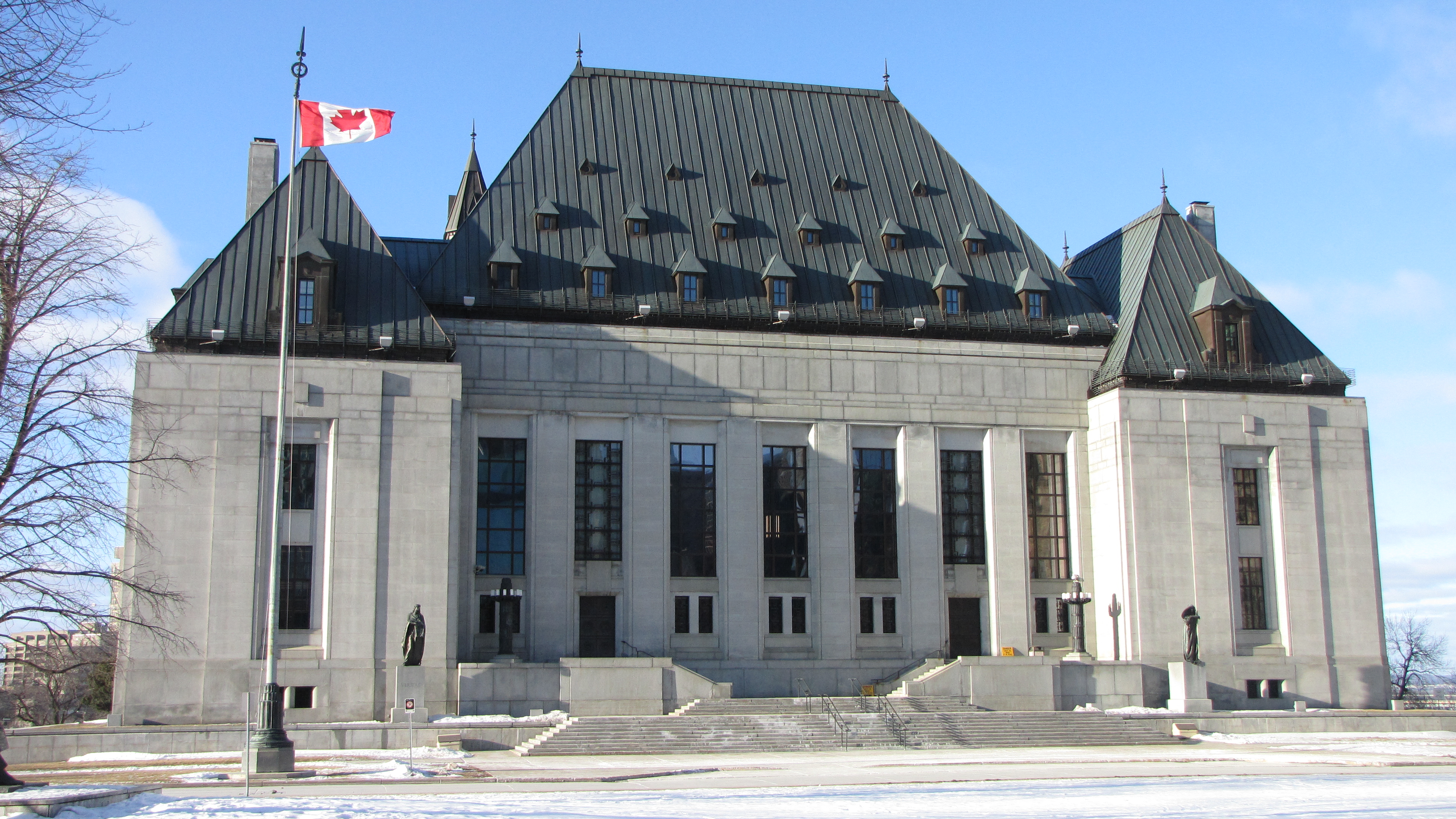 The Supreme Court of Canada building in Ottawa on Feburary 7, 2010. (Photo by D. Gordon E. Roberston via Wikipedia)