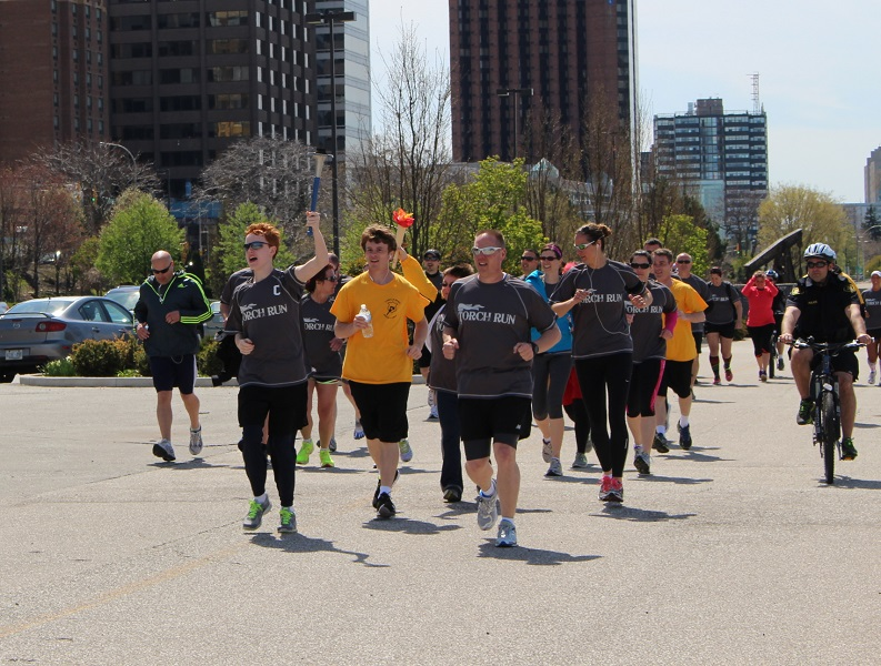 Law Enforcement Special Olympics Torch Run, May 6, 2014. (Photo by Maureen Revait)