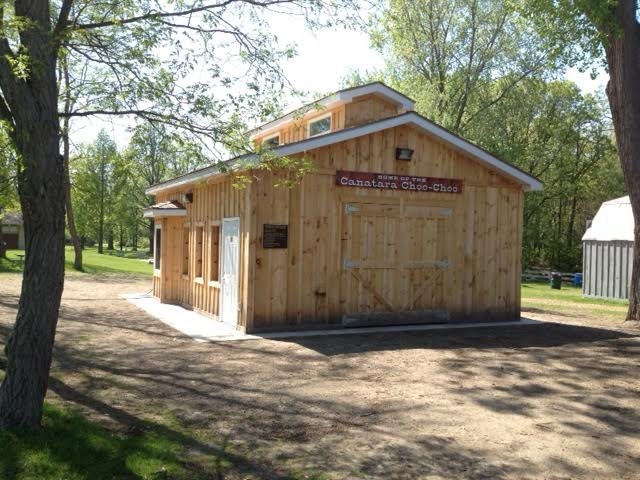 A ribbon cutting is planned Saturday to officially open the Seaway Kiwanis' train station at the Children's Animal Farm. BlackburnNews.com (Photo by Larry Gordon)