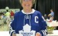 Wilma McNeill wears an autographed Dion Phaneuf jersey in 2013. Blackburnnews.com file photo.