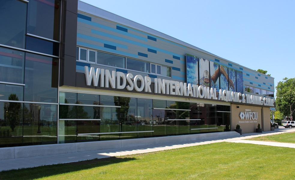 BlackburnNews.com file photo of the Windsor International Aquatic and Training Centre. (Photo by Maureen Revait).