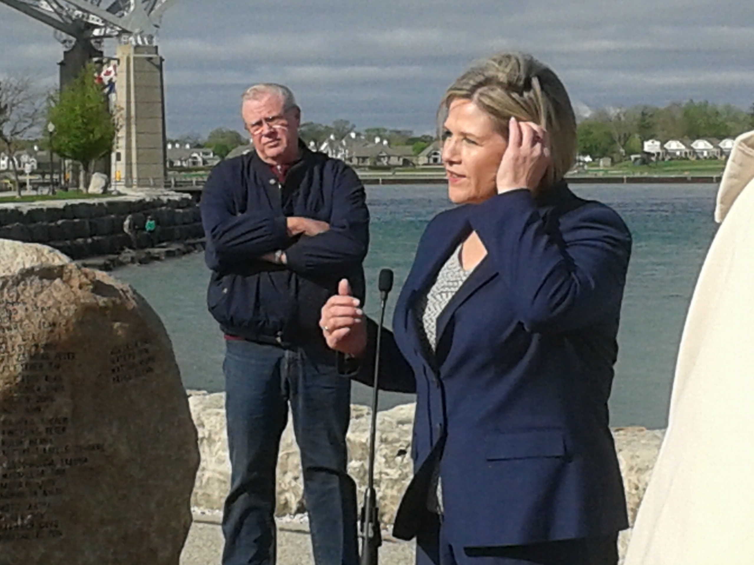 NDP Leader Andrea Horwath in Pt. Edward May 16, 2014. Photo by Stephanie Chaves