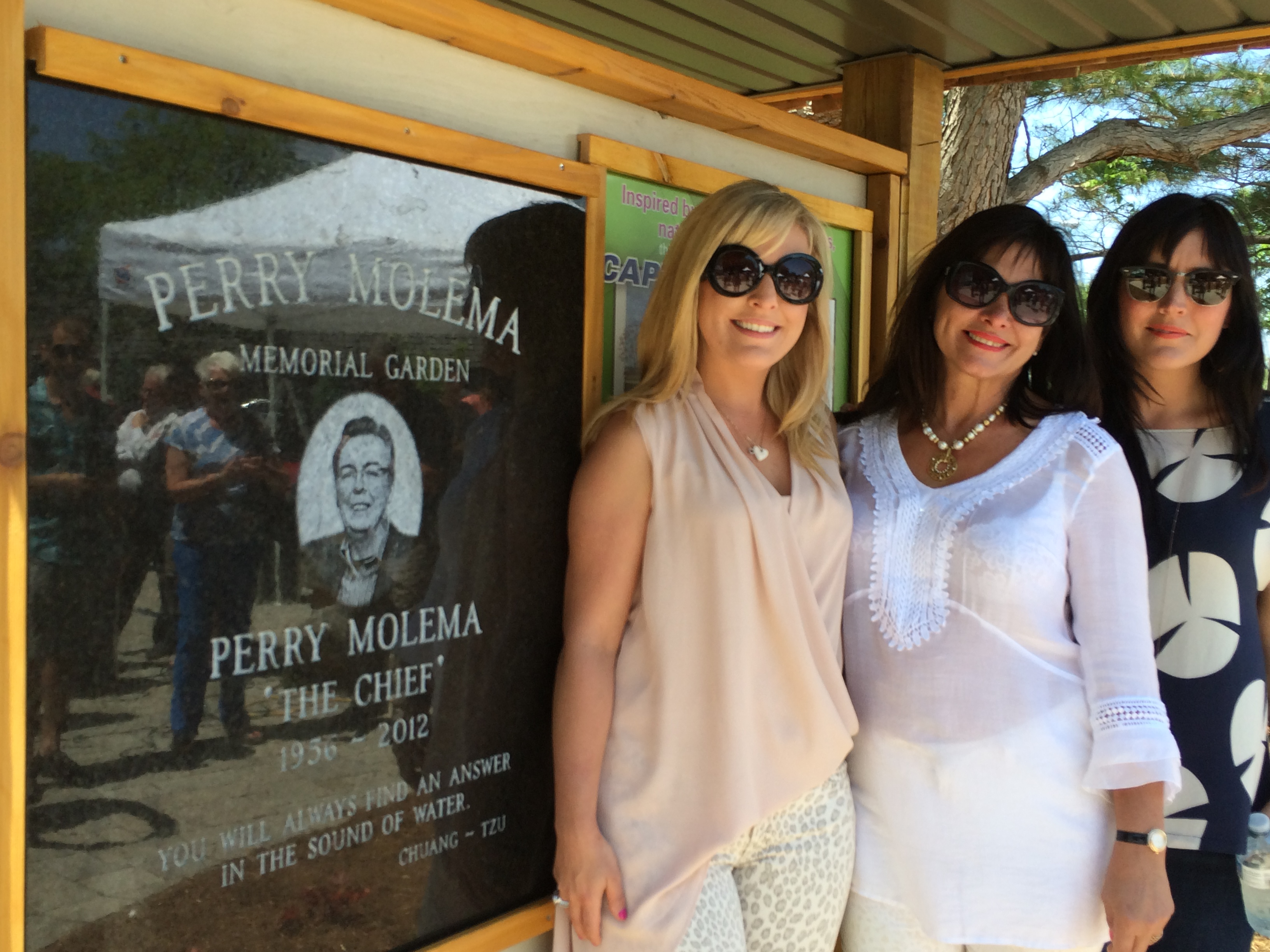 A memorial service on May 31, 2014 at Zonta Park in Chatham to dedicate a water feature as part of Perry Meloma Memorial Garden. (Photo by Ricardo Veneza)