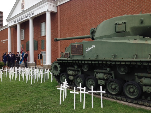 A ceremony at Sarnia Legion marks the National Day of Honour. May 9, 2014 BlackburnNews.com (Photo by Melanie Irwin)