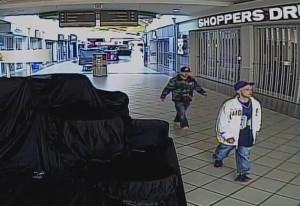 Photo of both suspects wanted after break-ins at Devonshire Mall courtesy of Windsor Police Services.
