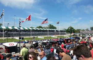 The crowds gather as the Detroit Belle Isle Grand Prix gets underway, June 1, 2014. (Photo by Cheryl Johnstone)