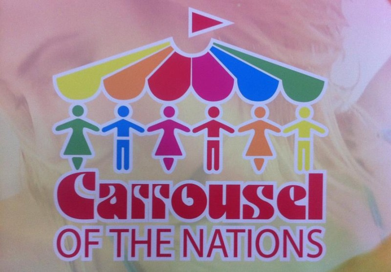 Carrousel Of The Nations fesival logo, 2014. (Photo by Mike Vlasveld)