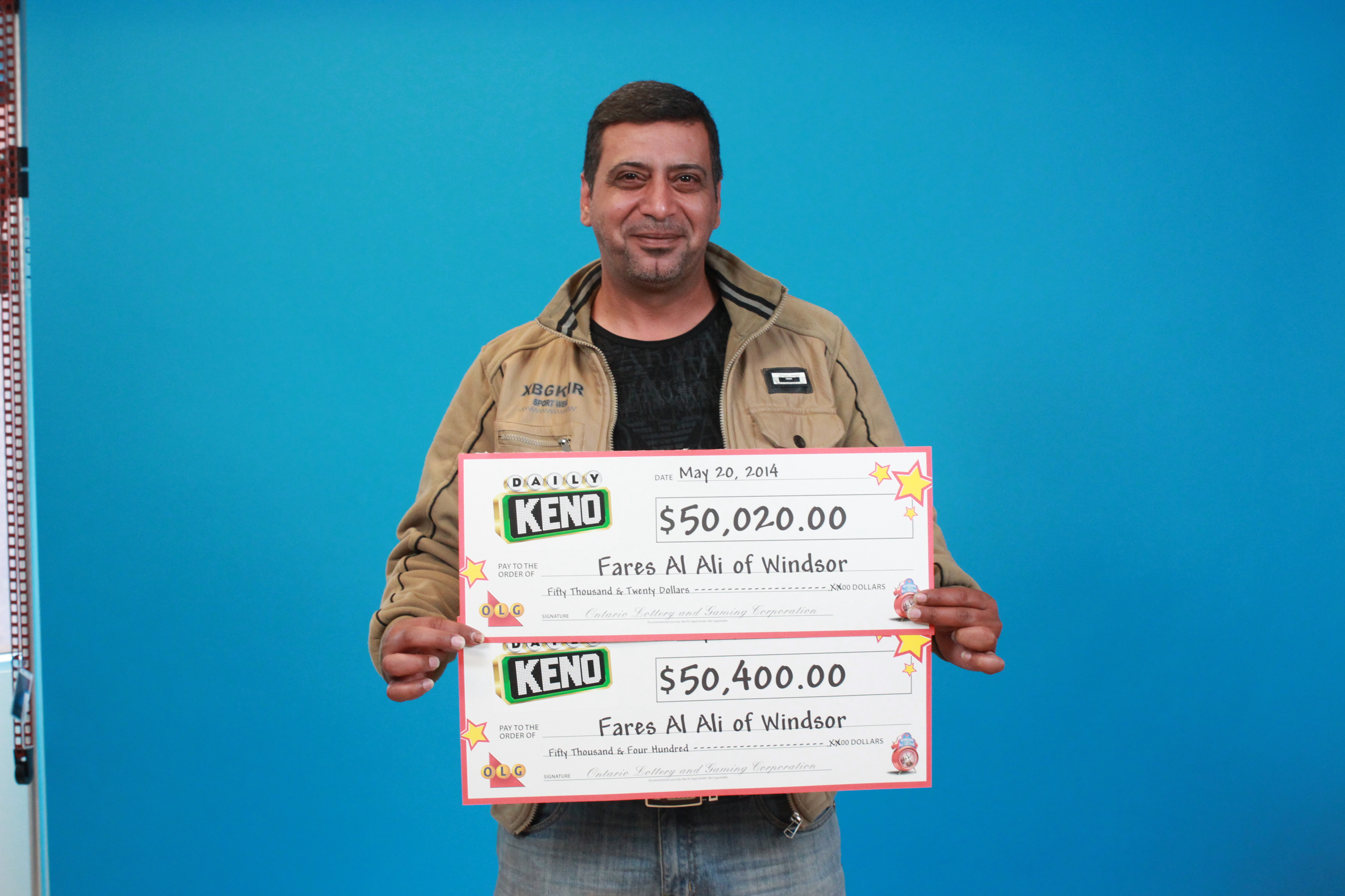 Fares Al Ali courtesy of the Ontario Lottery and Gaming Corporation.