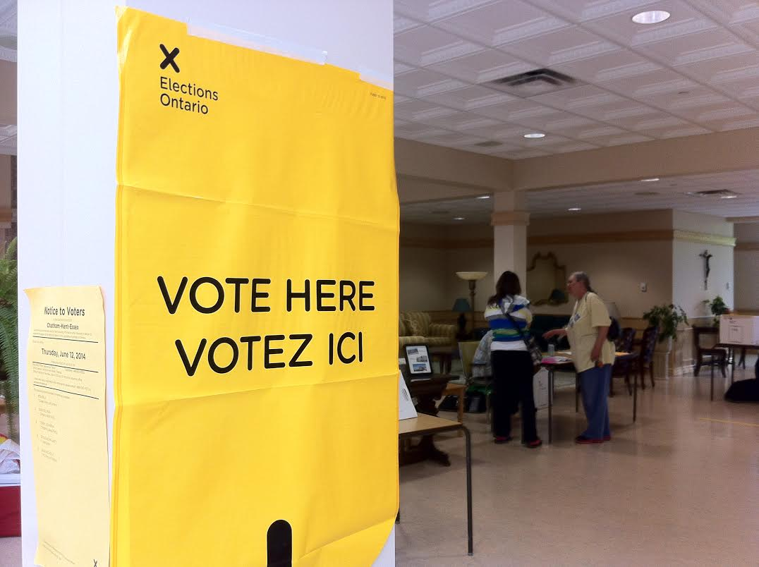 A voting station in Chatham. June 12, 2014. Photo by Ashton Patis.