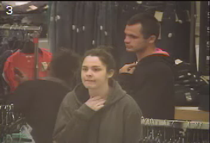 Police are looking these two suspects after a stolen credit card was used at a Sears store in Windsor. (Photo courtesy of the Windsor Police Service)