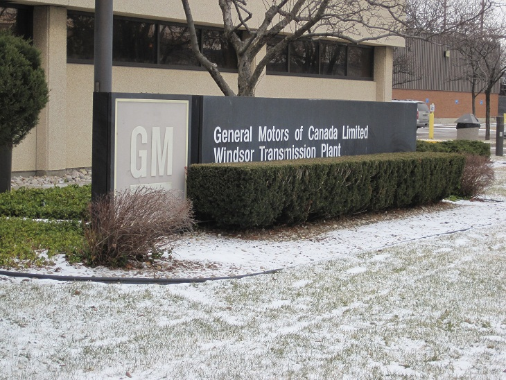 The former General Motors plant on Kildare Rd. in Windsor (Photo by BlackburnNews.com.)