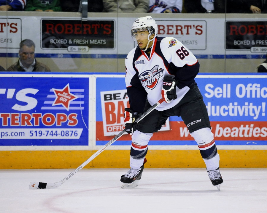 Josh Ho-Sang of the Windsor Spitfires. (Photo by Aaron Bell/OHL Images via Windsor Spitfires)