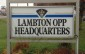 Lambton OPP Headquarters Sign