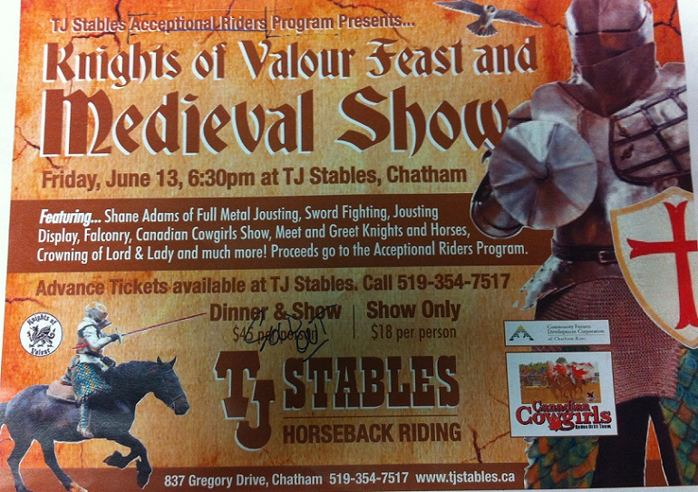 Knights of Valour Feast and Medieval Show poster