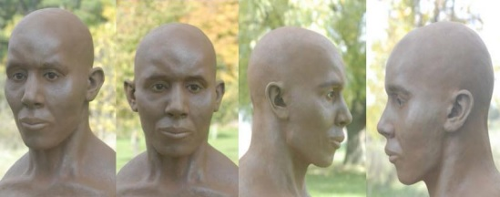 Clay rendering of man's skeletal remains found in Mitchell's Bay March 23, 1987. (Photo provided by OPP)