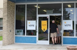 Polling station in Windsor-Tecumseh riding for the 2014 Provincial Election (Photo by Maureen Revait)