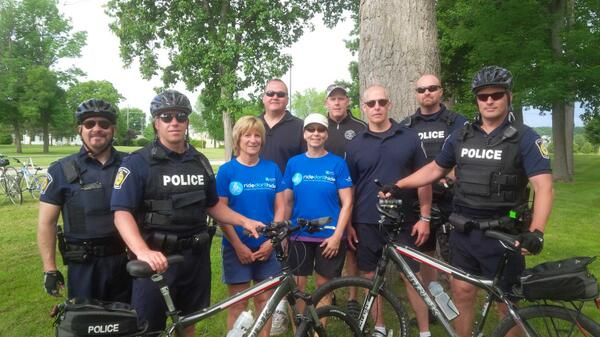 Sarnia police ready to take part in Ride Don't Hide Sunday June 22, 2014 (photo courtesy Sarnia police via twitter)