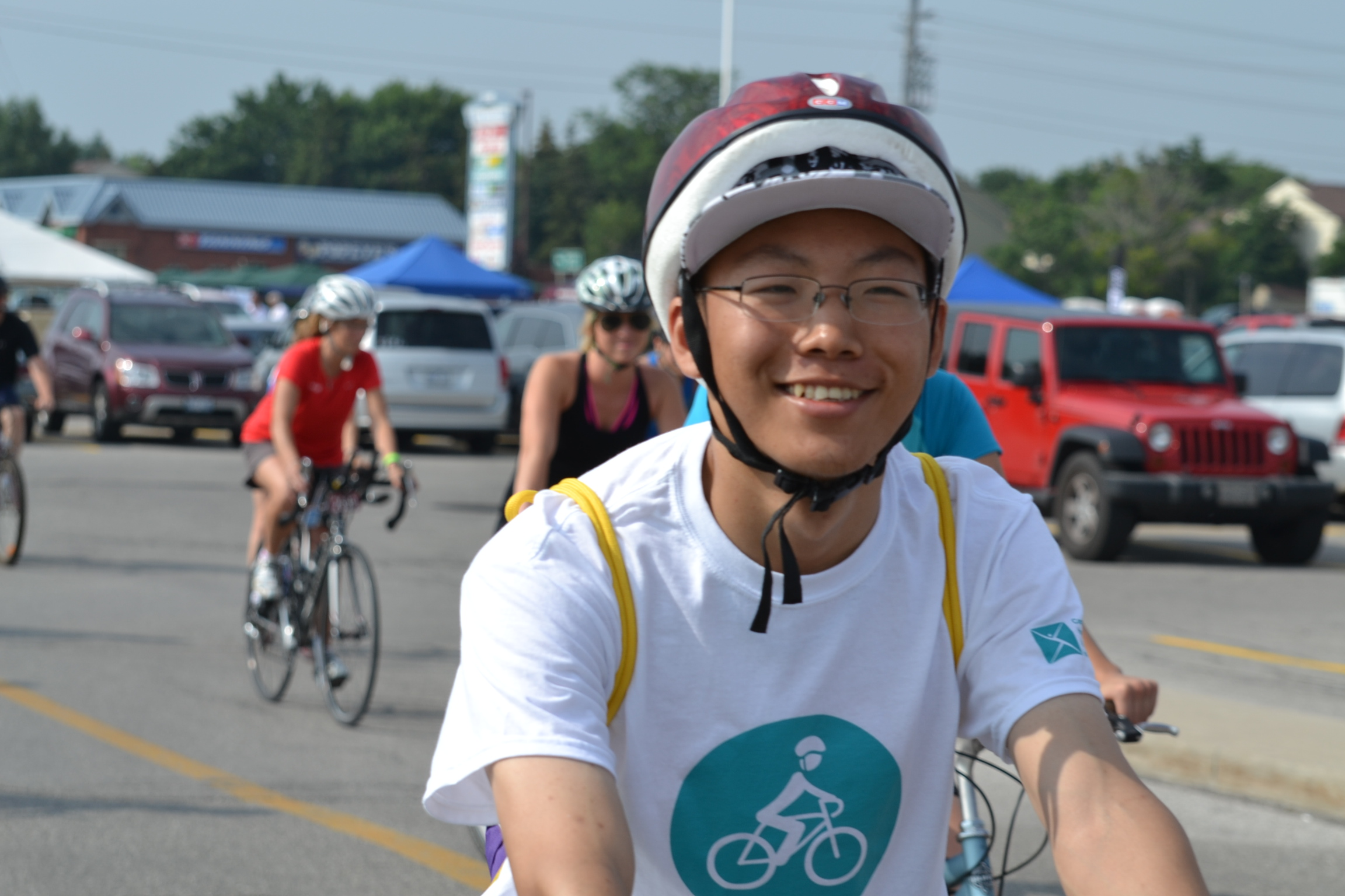 Photo of cyclist taking part in Ride Don't Hide event. (Photo courtesy ridedonthide.com)