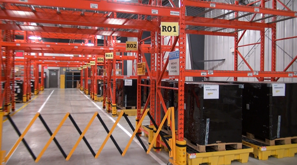 The inside of the Siemens Wind Turbine Training and Distribution Centre in Chatham. June 18, 2014. Photo by Ashton Patis.
