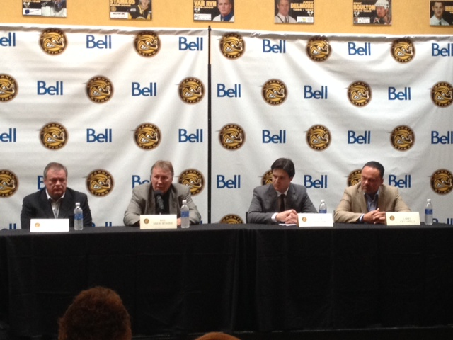 Sarnia Sting announce Bill Abercrombie as team's new President and Nick Sinclair as GM. June 12th 2014 Blackburnnews.com. Photo by Jake Jeffrey