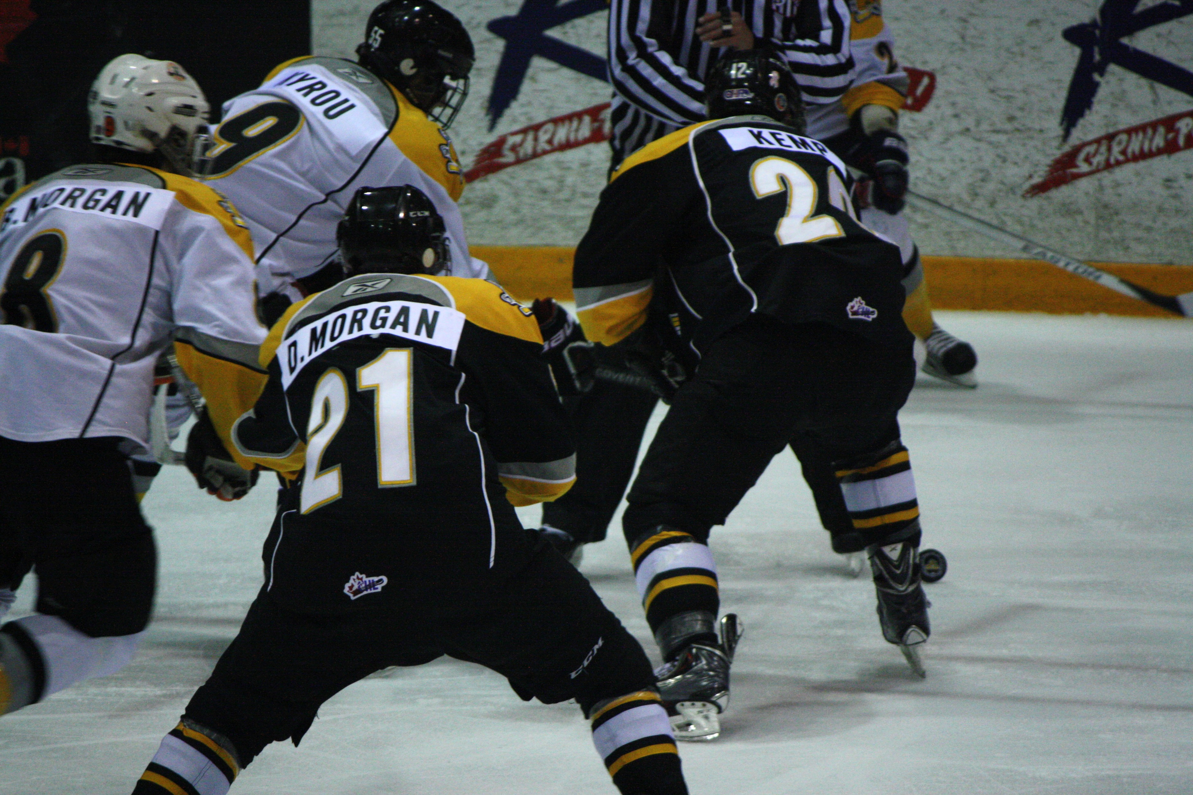 Sting prospects face off at Orientation Camp June 7, 2014 (photo by Dave Dentinger)