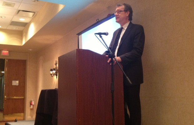President and CEO Ian MacLellan speaks in Sarnia November, 2013 (BlackburnNews.com photo)