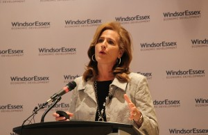 WEEDC CEO Sandra Pupatello speaks at the 2013 AGM.