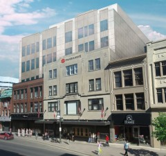 An artist rendering of the proposed second phase of Fanshawe College's downtown expansion.