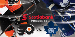 Flyers Vs Leafs poster