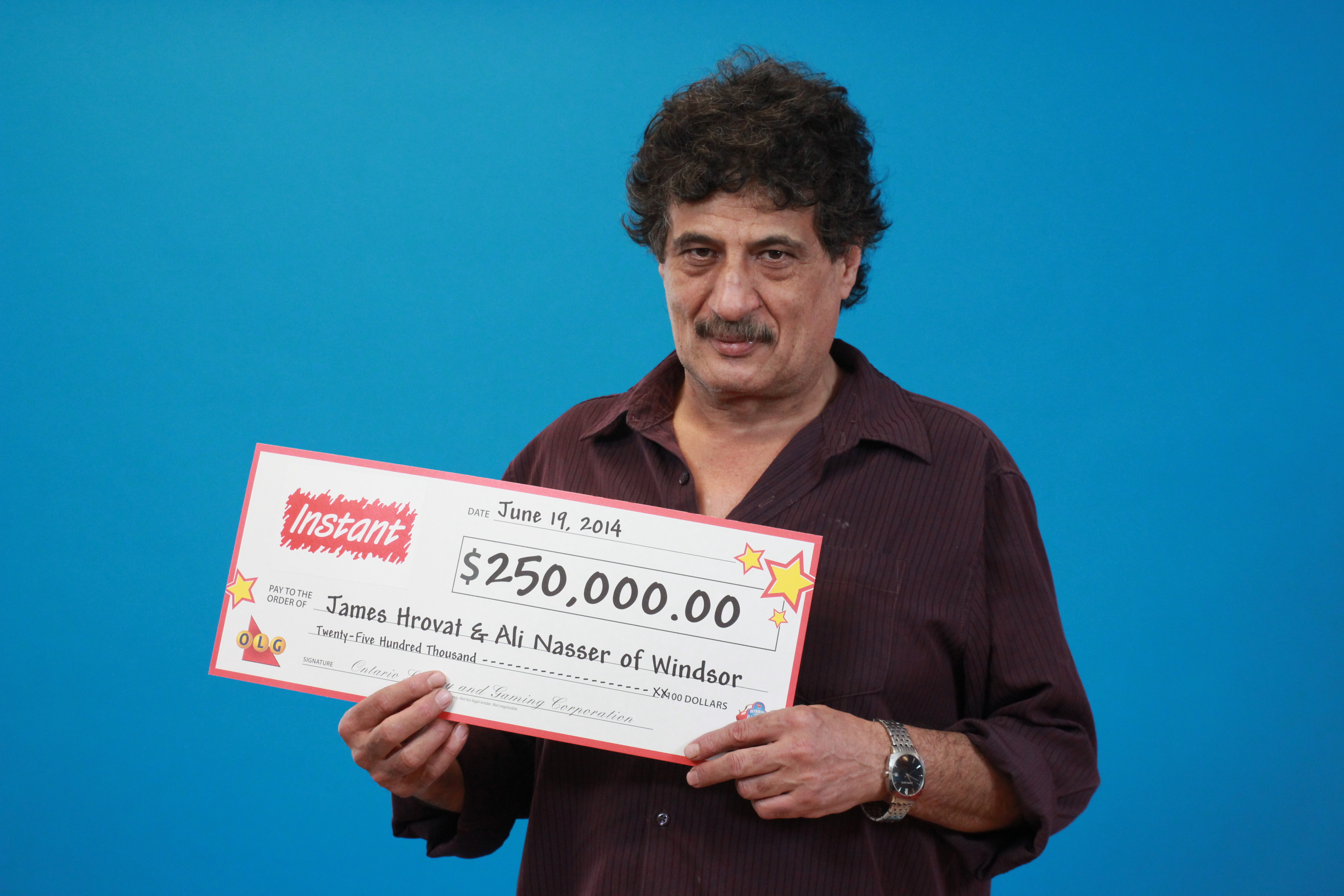 Photo of James Hrovat courtesy of the Ontario Lottery and Gaming Corporation.