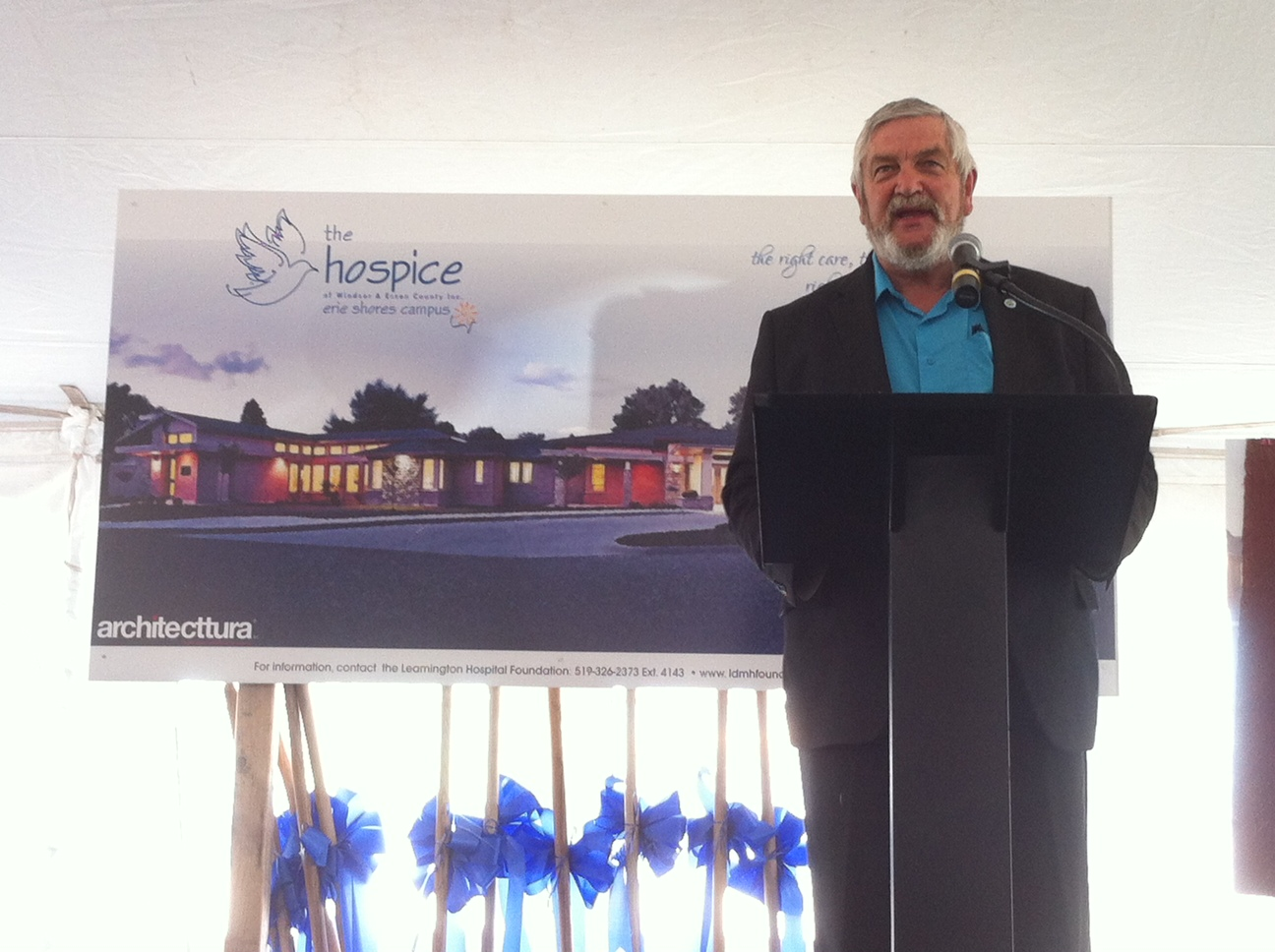 Essex County Warden Tom Bain at the Hospice fundraising kick-off in Leamington. June 5, 2014. (Photo by Kevin Black)