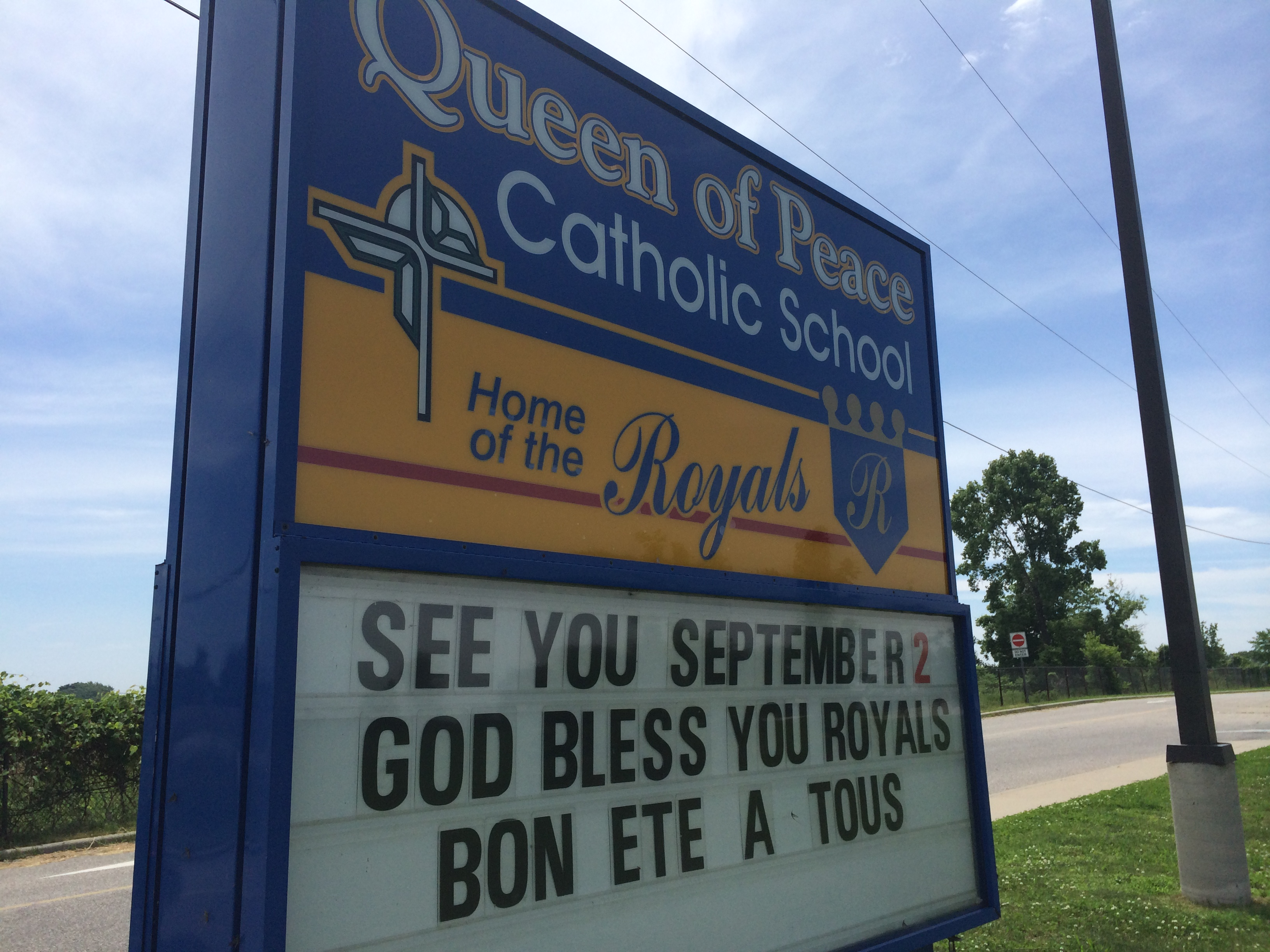 Queen of Peace Catholic Elementary School, June 30, 2014. (Photo by Ricardo Veneza)