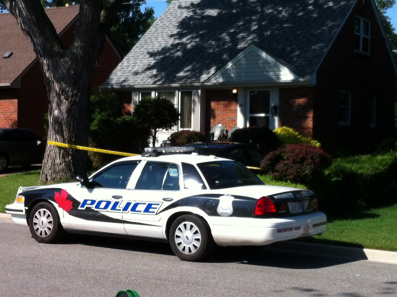 Windsor police continue to investigate an attempted murder on Reedmere Rd. June 26, 2014. (Photo by Bob Becken.)