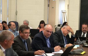 Representatives of Deloitte and the Ministry of Municipal Affairs and Housing attend Amherstburg council meeting to discuss financial practices review on June 22, 2014. (Photo by Ricardo Veneza)
