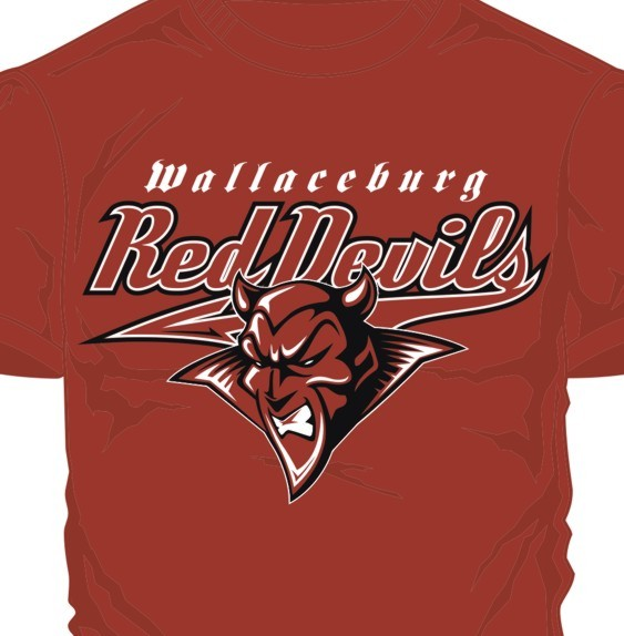 Wallaceburg Red Devils 2014 playoff t-shirts. (Photo courtesy of Todd Shepley)